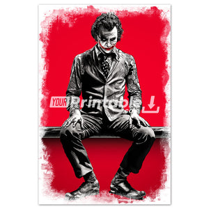 "The Joker ""RED"" Movie Original Poster Wall Art - Instant Download"