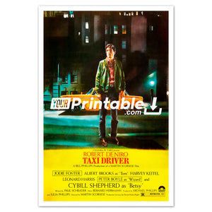 Taxi Driver Movie Original Poster Wall Art