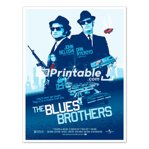 Blues Brothers Movie Original Poster Wall Art