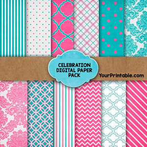 Celebration Digital Paper Pack