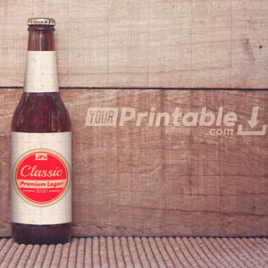 Printable Classic Beer Bottle Labels Template - Digital Download