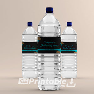 Printable Event Water Bottle Labels Template- Digital Download