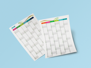 Printable 2021 Two Pages Vertical Calendar Template PDF - Download