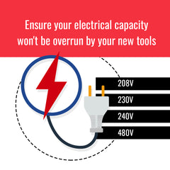 Ensure your electrical capacity won't be overrun