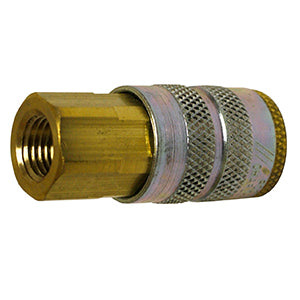 "Sleeve Lock Air Socket, Industrial ""M"" Style Plug, 1/4"" NPT Female, 1/4"" Coupler"