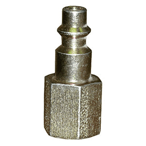 "Industrial ""M"" Style Air Plug, 1/4"" NPT Female, 1/4"" Coupler"