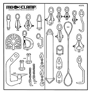 Mo-Clamp Tool Board #10 w/ Tools
