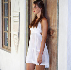 Lara Ethnics - Salud Short Dress with Open Back