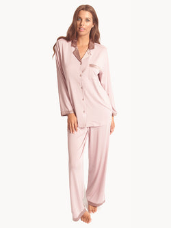 Love & Lustre - Modal Silk Trim PJ Set