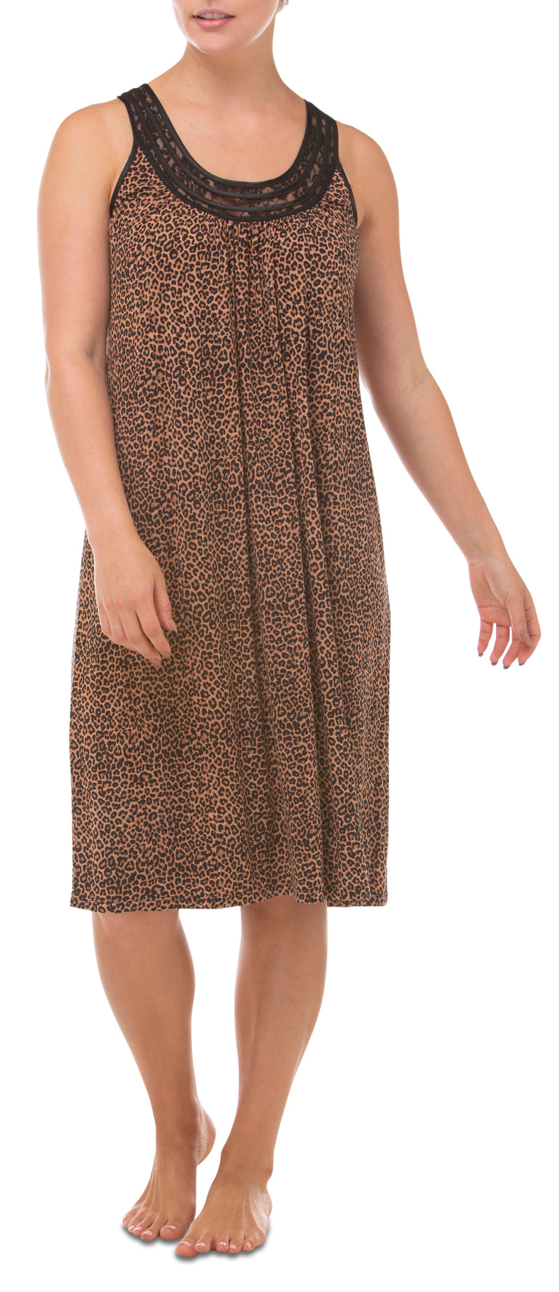 Yuu - Leopard Lace Sleeveless Dress