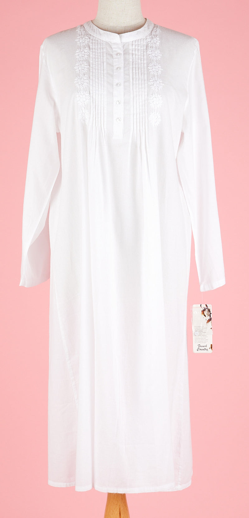 French Country - Long Sleeve Nightie Voile