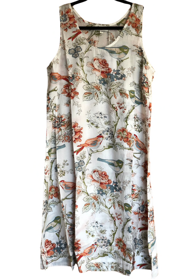 Vintage Birds Sleeveless Nightie
