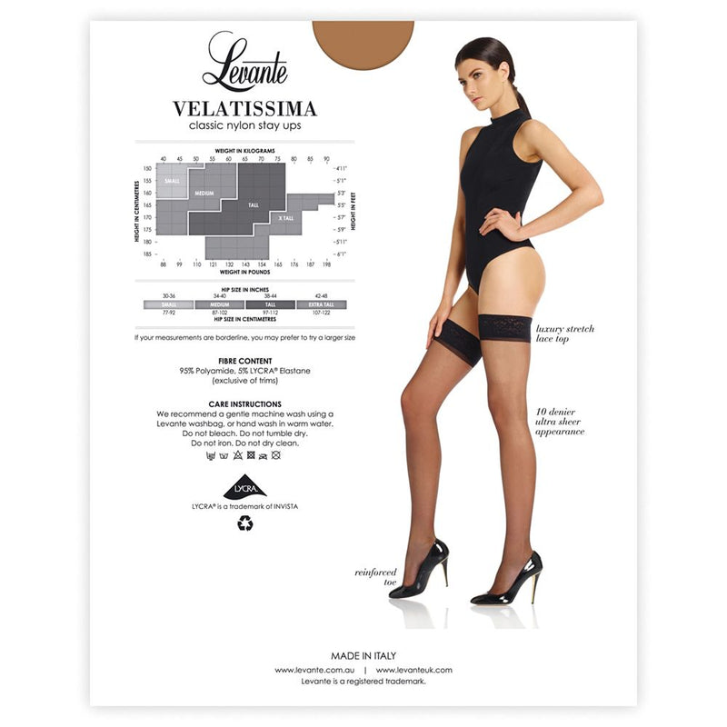 Velatissima - Classic nylon stay up Stockings
