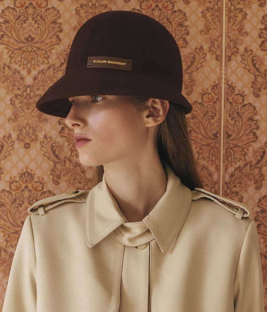 Brown Felt Cloche Hat (4669817258032)