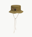 Deer-patch cotton bucket hat