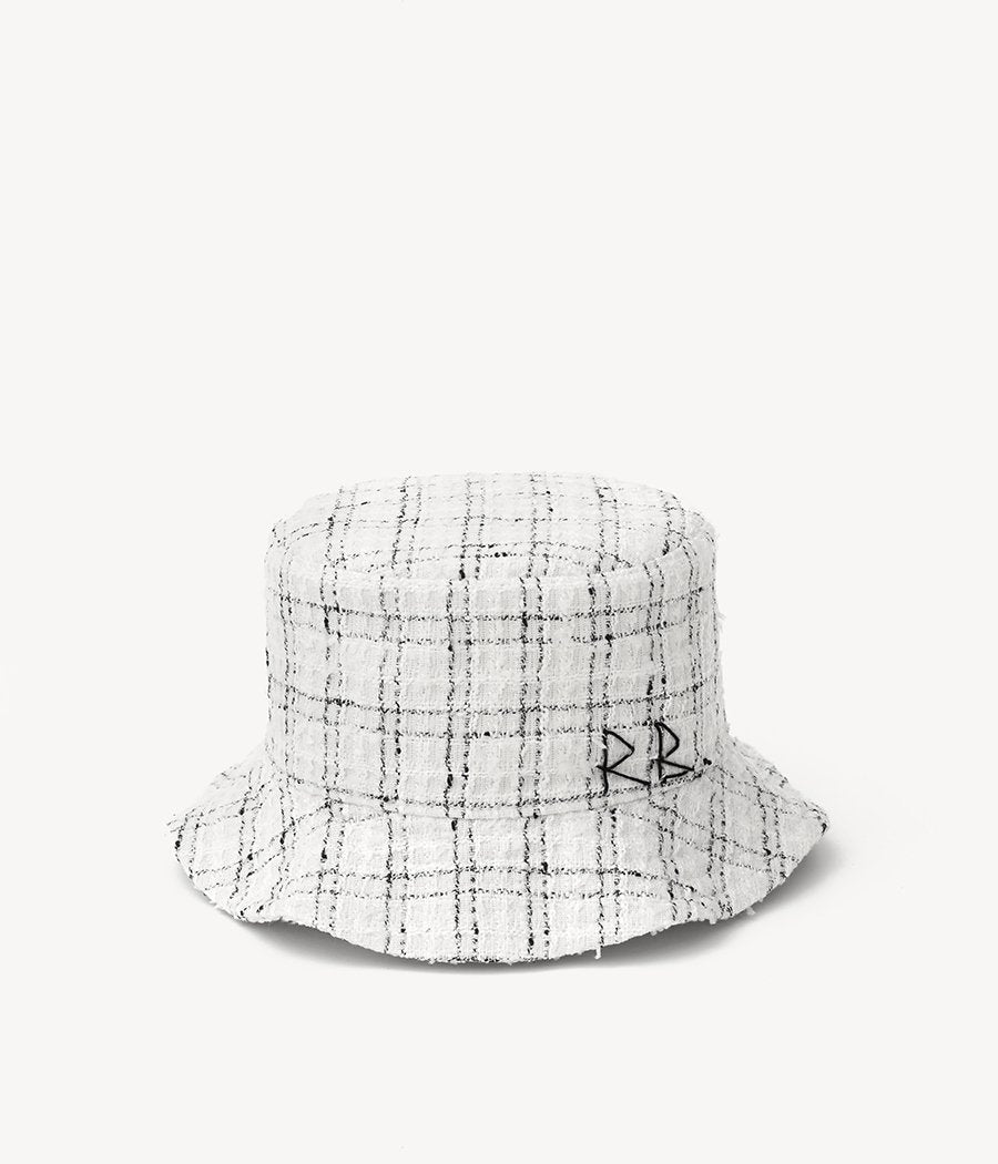 Checked-tweed bucket hat