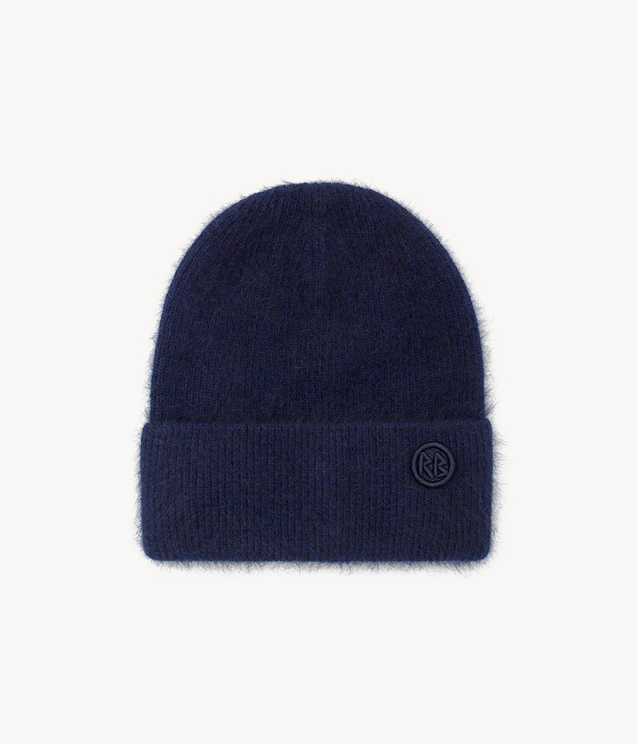 Dark Blue Logo Patch Beanie