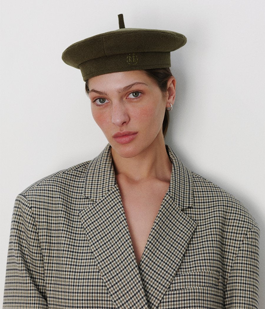 Monogram-embroidered Beret