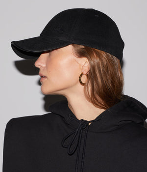 Black Wool Baseball Cap