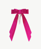 Pink Satin Bow Barrette