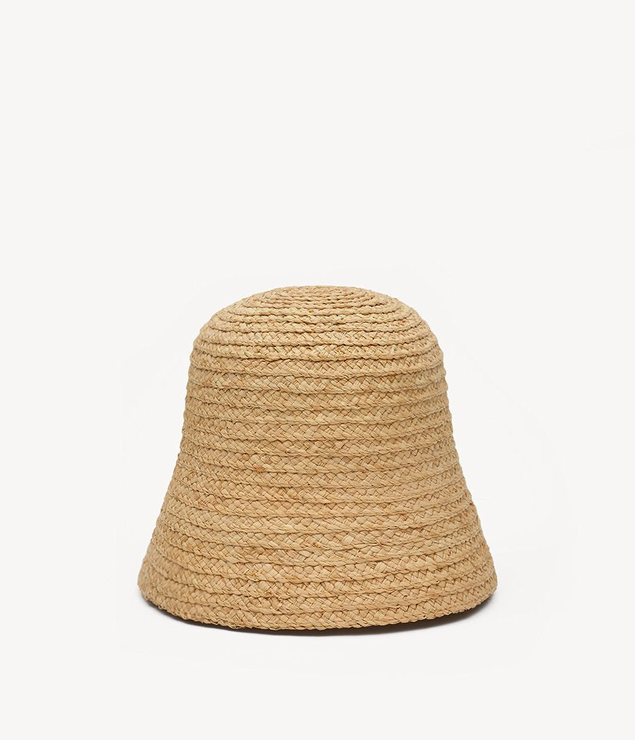 Natural Straw Cloche Hat