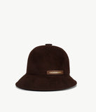 Brown Felt Cloche Hat