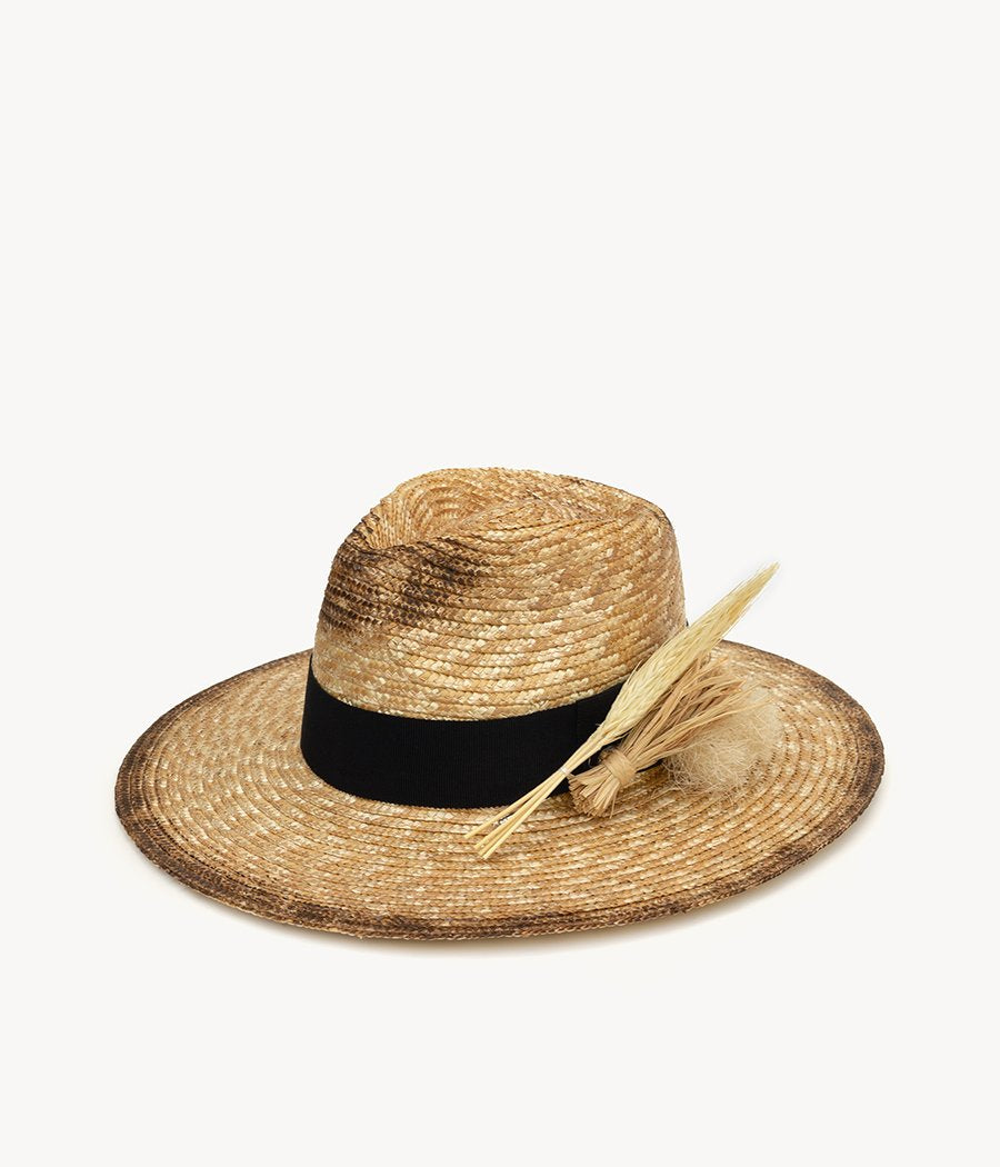 Neutral Straw Fedora Hat