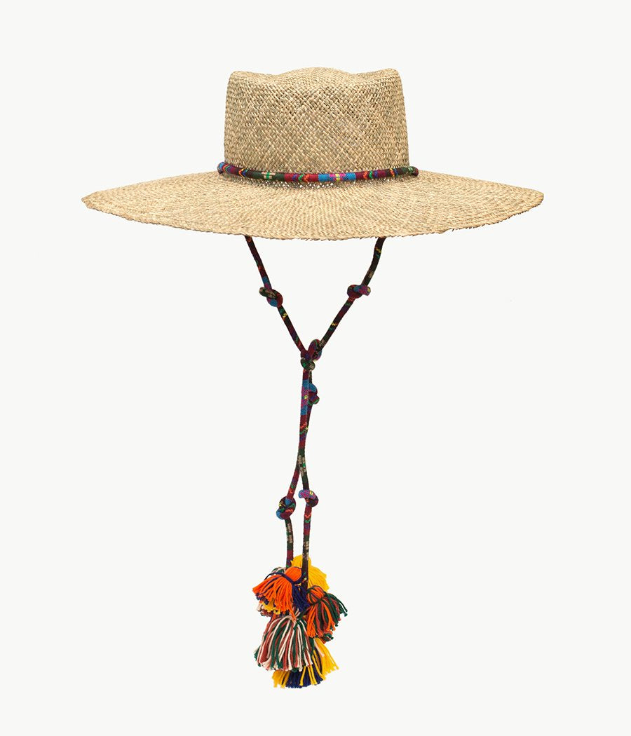 Tasselled straw gambler hat (4622634319920)