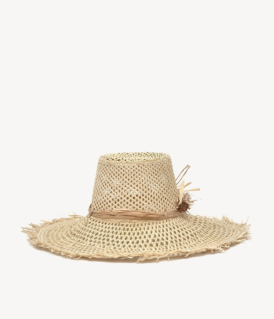 Spikelets Embellished Straw Hat