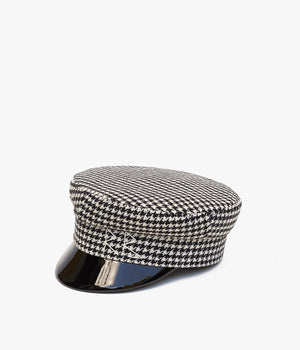 Houndstooth Wool Baker Boy Cap (4660088864816)