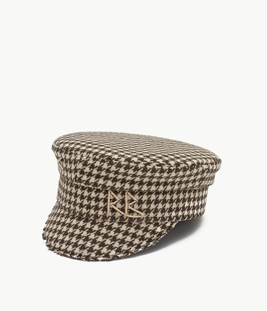 Houndstooth Check Baker Boy Cap