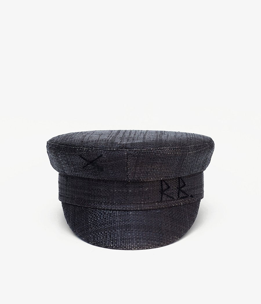 Straw baker boy cap