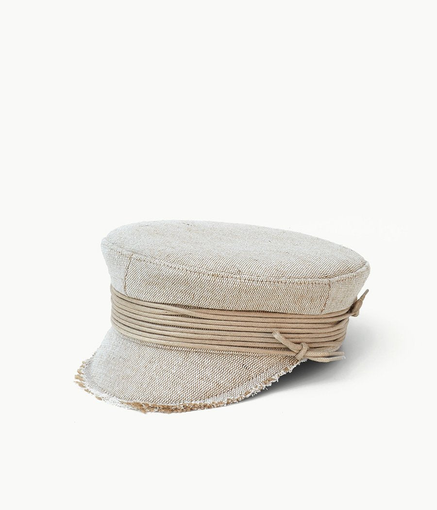 Lace-tied baker boy cap (4622636154928)