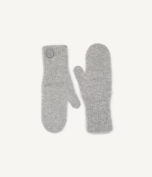 Grey Logo Patch Mittens
