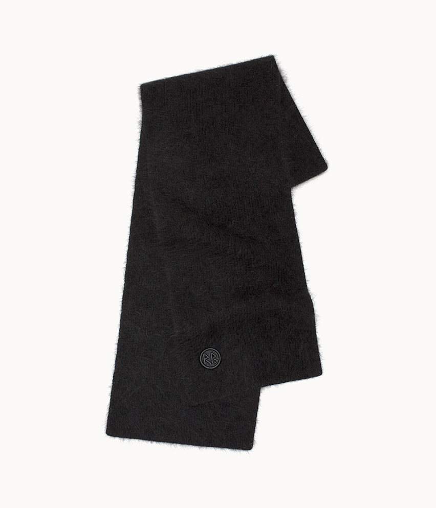 Black Logo Patch Scarf
