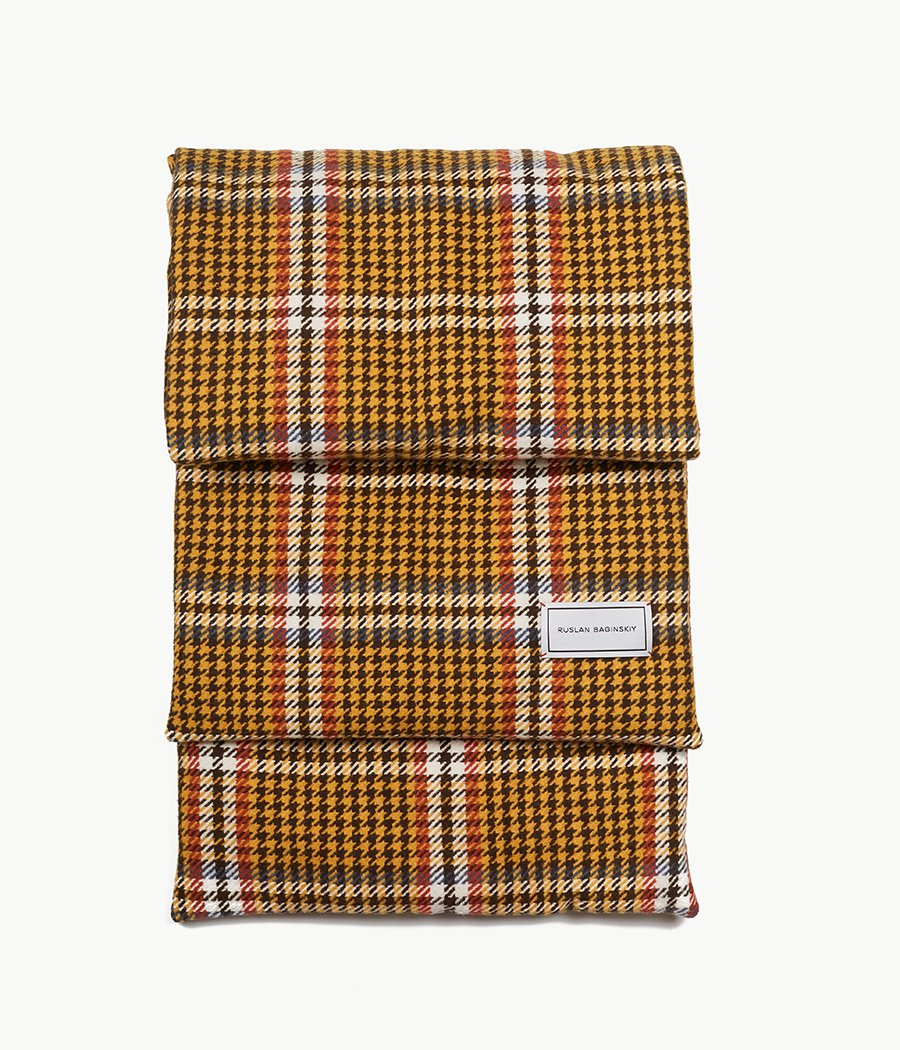 Houndstooth check Wool Scarf (4662845440048)