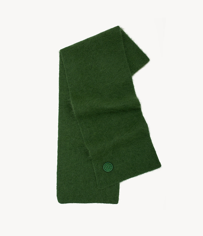 Green Logo Patch Scarf