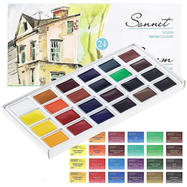 aquarelle, https://www.amazon.de/dp/B01N4X2N6O, malen, malfarbe, Sonnet, Malfarbe - ZI-SHOP