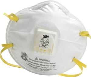 3M™ Particulate Respirator 8210V, N95 with 3M™ Cool Flow™ Valve