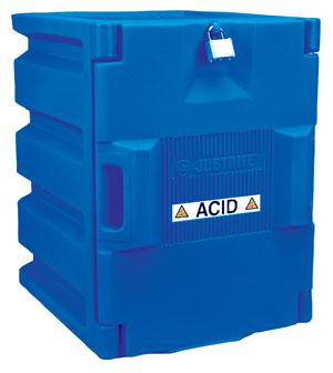 Blue Polyethylene Storage Cabinet for Corrosives