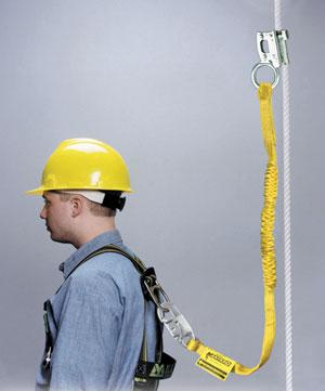 Rope Grab with Manyard® Shock-Absorbing Lanyard
