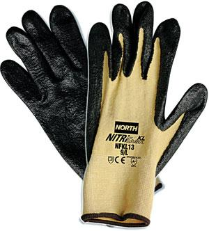 NorthFlex Nitri Task KL™ Nitrile Palm-Coated Kevlar®/Lycra® Gloves