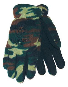 1586 Camo Polar Fleece Gloves