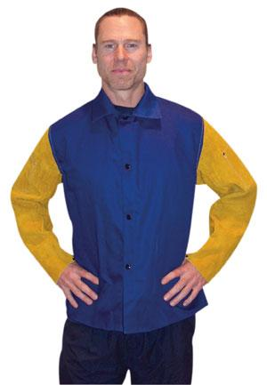Flame-Retardant Cotton Jackets with Leather Sleeves