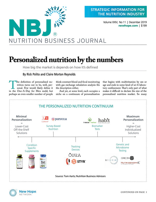 December 2019: Personalized Nutrition
