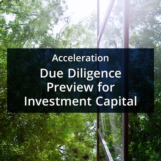 MarketReady Insights - Acceleration Package - Due Diligence for Investment Capital