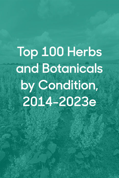 Chart: Top 100 Herbs and Botanicals by Condition, 2014-2023e