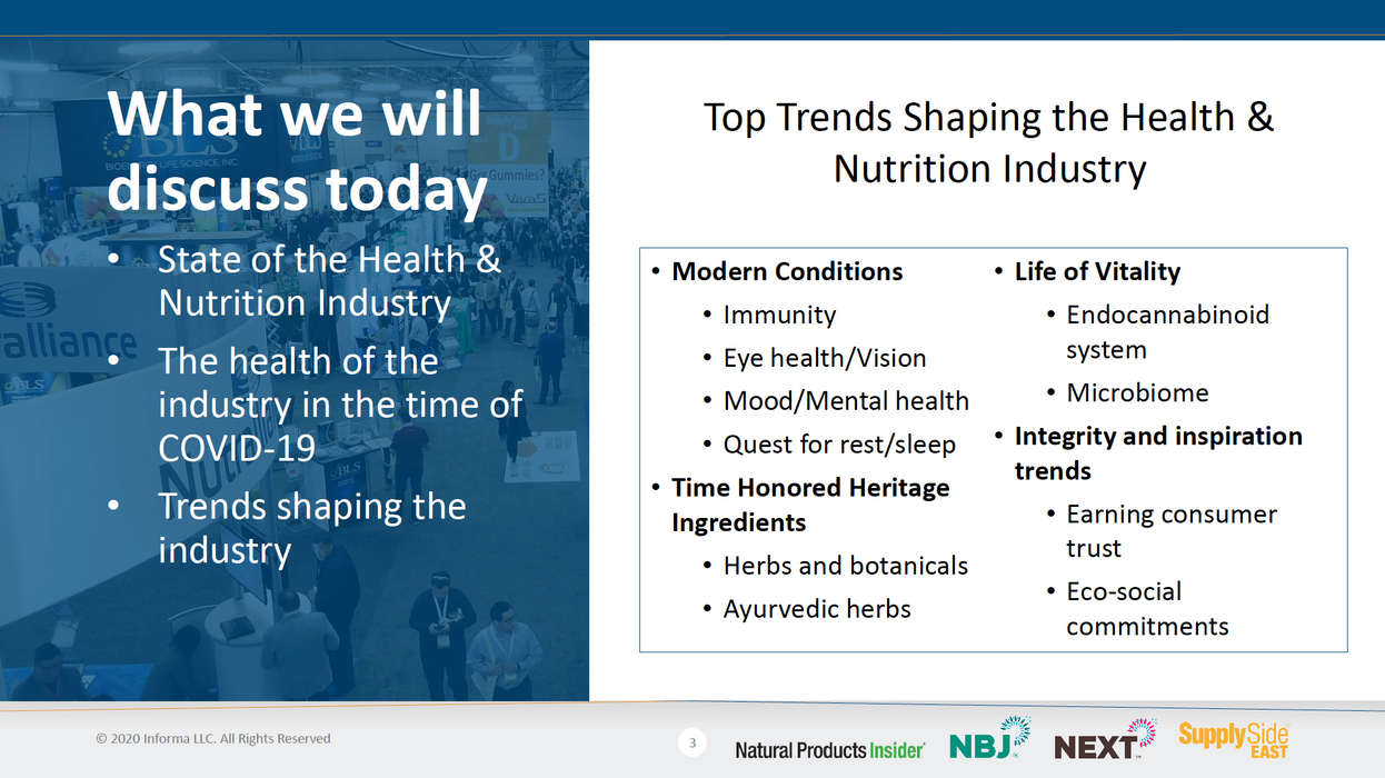 Presentation: Top Trends Driving the Health & Nutrition Industry