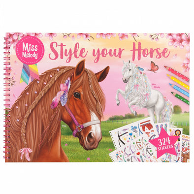 Miss Melody Style your Horse Colouring Book