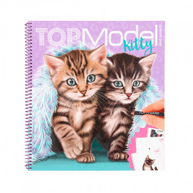 Create Your TOPModel Kitty Colouring Book